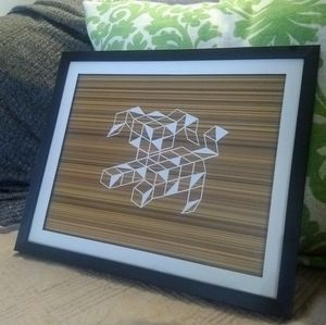 Geometric puppy Art